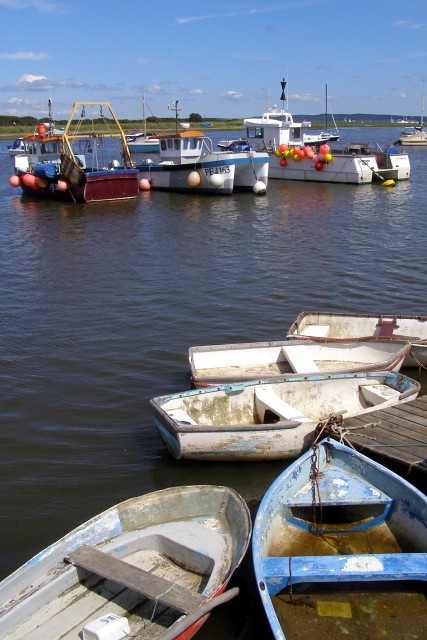 Working boats at Keyhaven