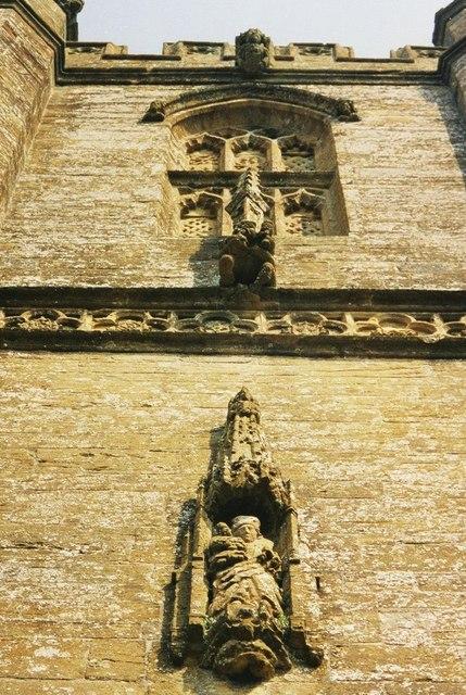 Cerne Abbas church: tower detail