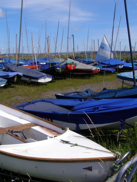 Boat storage at Keyhaven Yacht Club