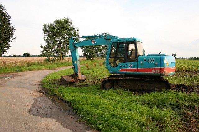 Digger on Wood Lane