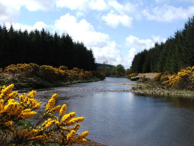 River Forsa, looking downstream toward main road