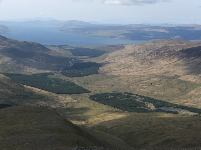Looking North from the summit of Beinn Talaidh