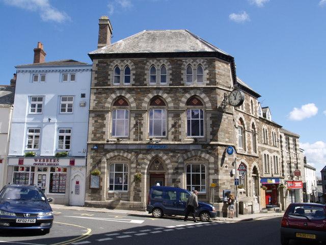 Bank in Launceston town centre