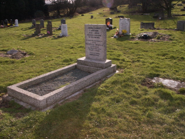 Grave and Headstone of  Lord Lawson of Beamish