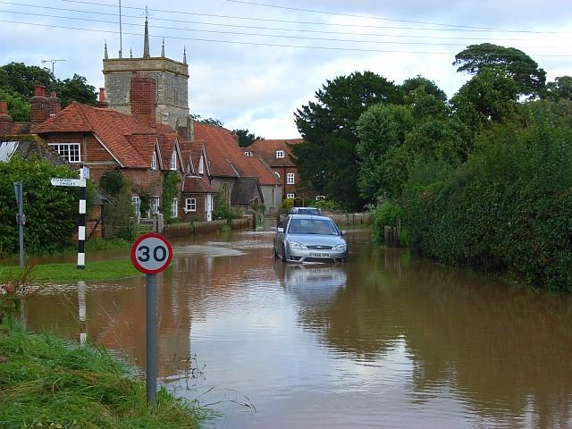 Flooding in Bucklebury