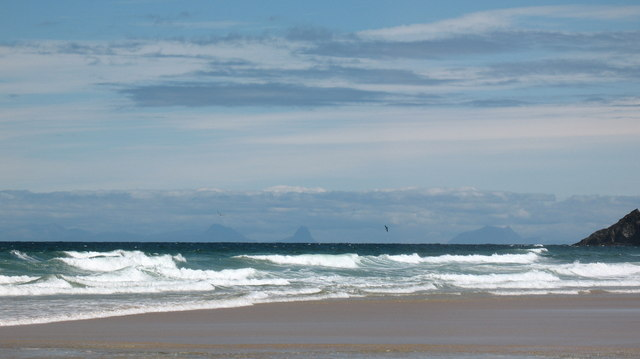 Surf and sand at Traigh Mhor