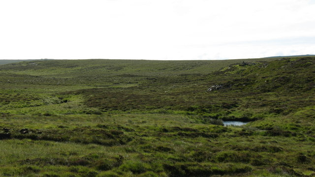 Moorland and stream on Lewis.