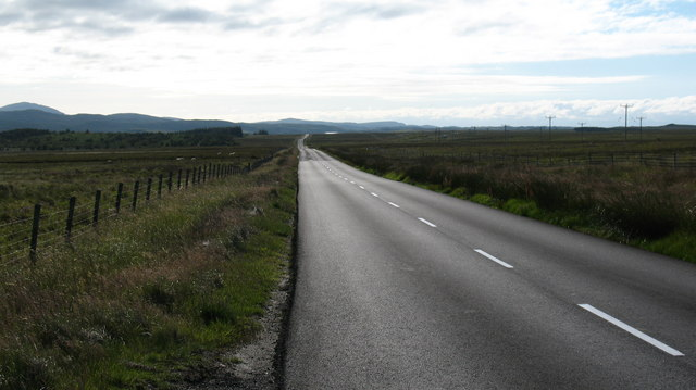 The A858 across the Lewis moors.