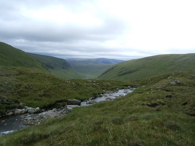 The upper flow of Allt na Criche, boundary of Easter and Wester Ross