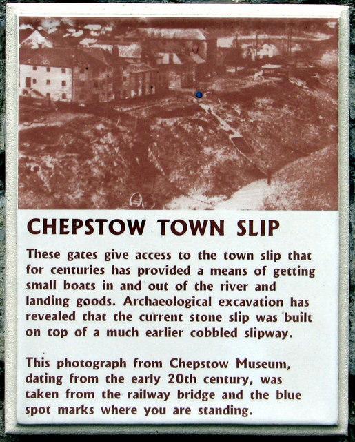 Chepstow Town Slip plaque