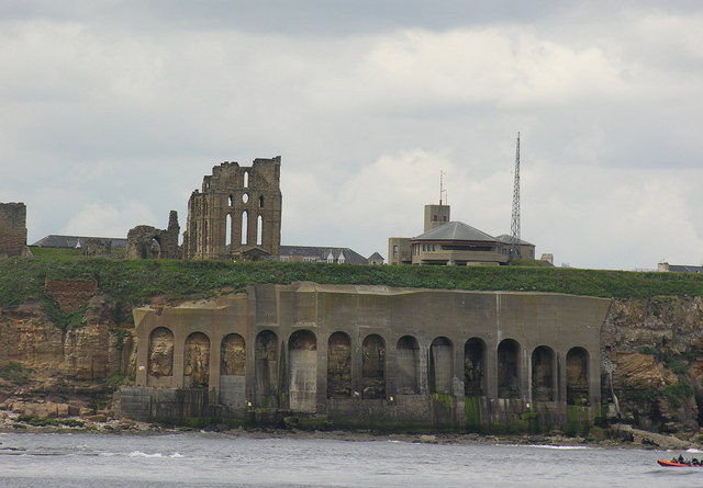 Tynemouth Priory from seaward side