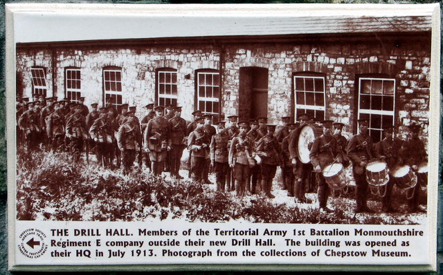 Chepstow Drill Hall plaque