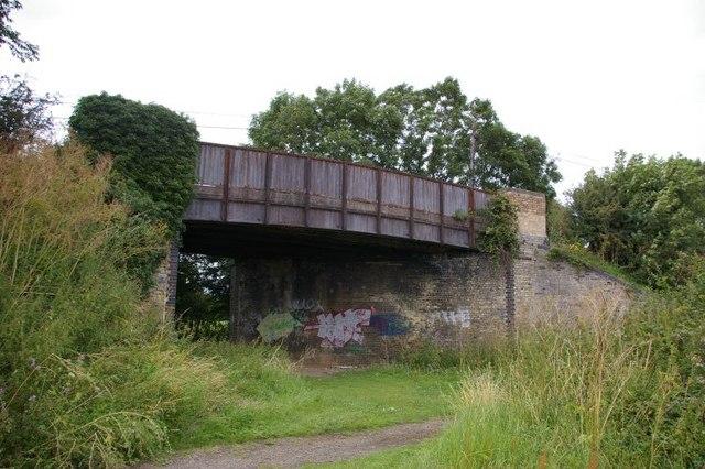 Soon to be dismantled railway bridge near Toft