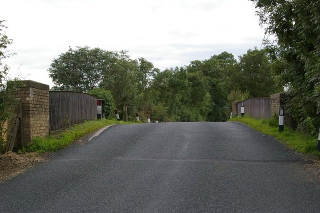 View along road to soon to be dismantled railway bridge