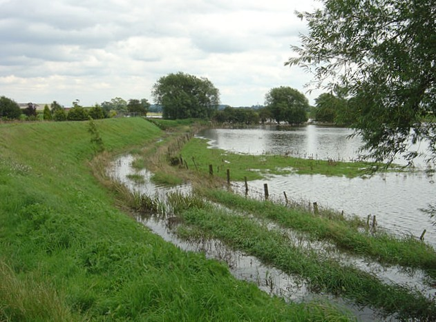 Flood defences at Newington