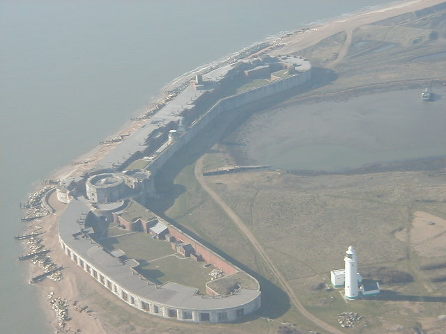 Hurst Castle from the air