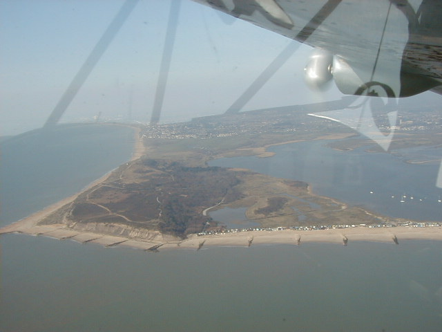 Hengistbury Head from the air