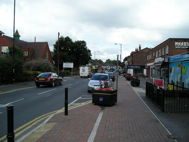 Stockport Road, Timperley, from near the Library