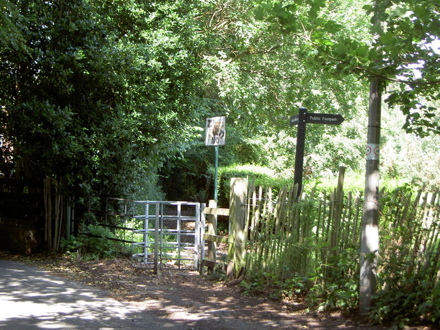 Footpath Junction and Kissing gate.
