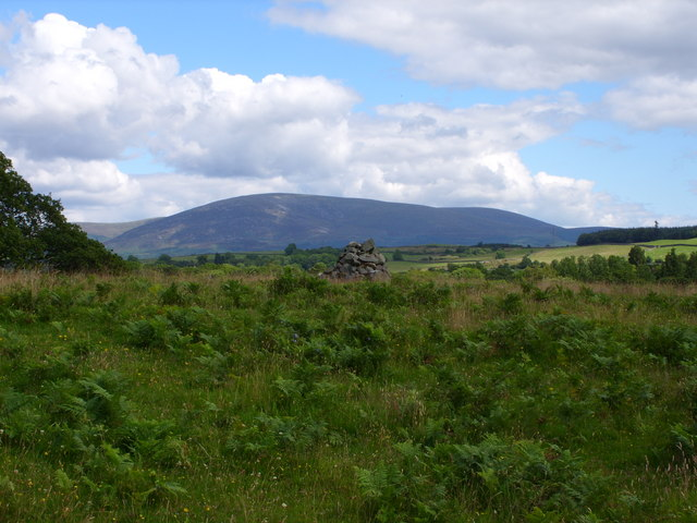 Cairn with Cairnsmore of Fleet Behind