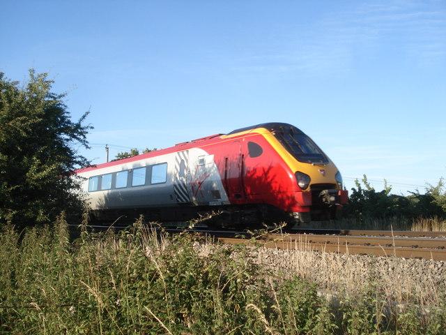 Passenger train at Oddingley