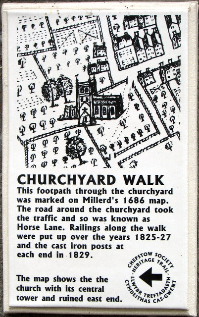 Chepstow - St Mary's Churchyard Walk plaque