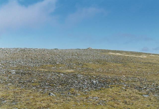 The summit of Beinn Mhanach