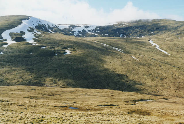 The col at the head of Gleann Cailliche
