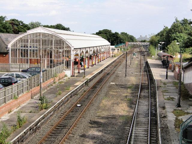 Monkseaton Metro Station from Bridge