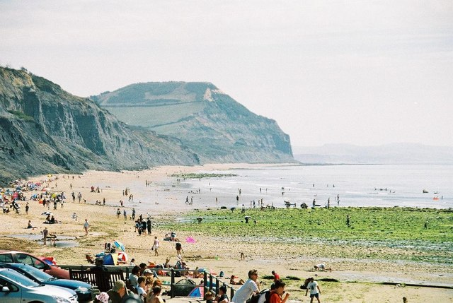 Charmouth beach – and Golden Cap view