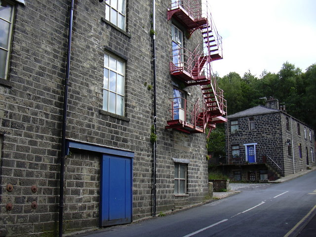 Mill Fire Escape. Wales Road. Waterfoot