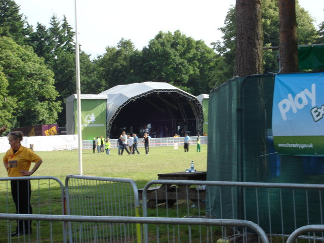 Temporary Stage at High Lodge