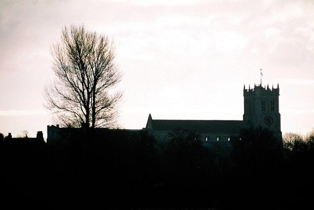 Christchurch: the priory in silhouette