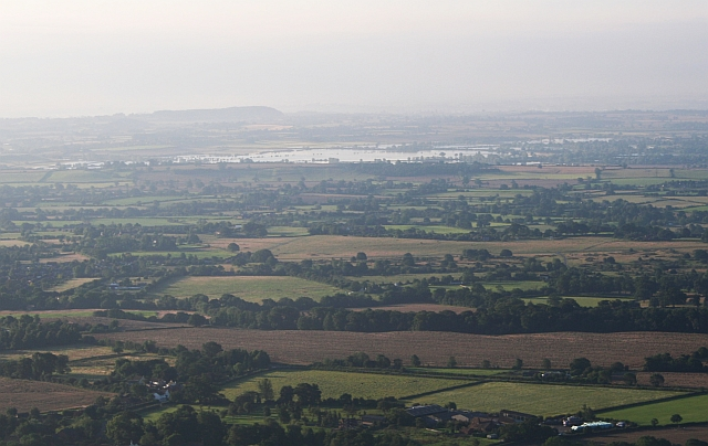 Longdon Marsh in Flood from Pinnacle Hill