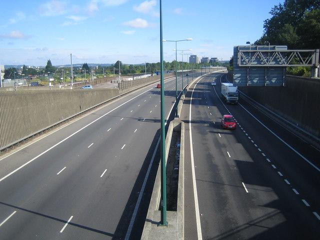 M1 Motorway in Hendon