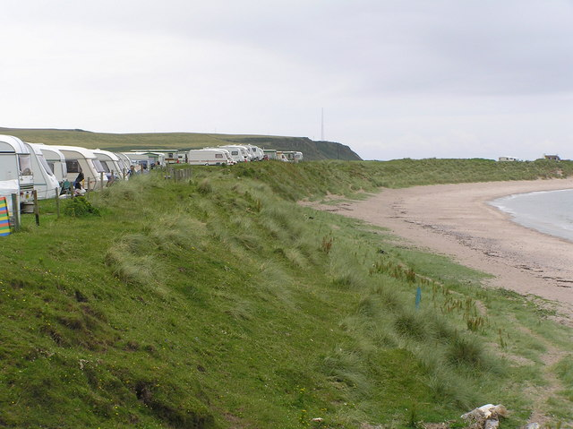 Machribeg Caravan Park at Dunaverty Bay, Kintyre