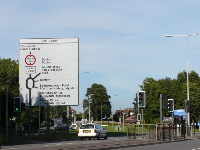 Pont Ebbw Roundabout, Newport