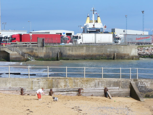 Lorries Unloading at Ramsgate Ferryport