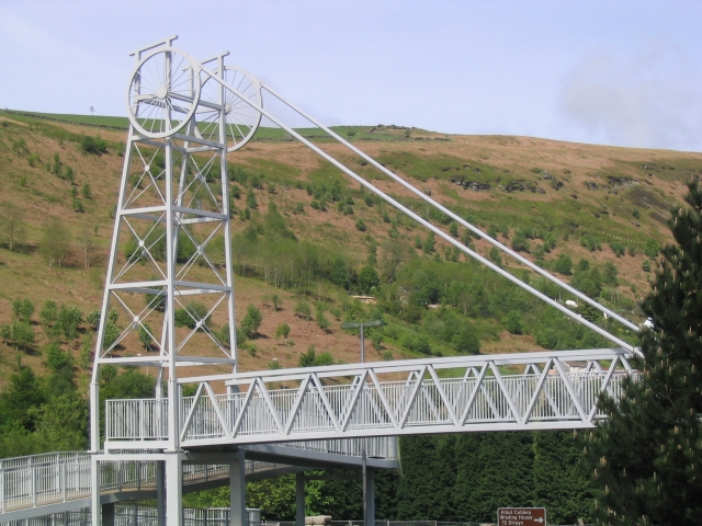 Footbridge at New Tredegar
