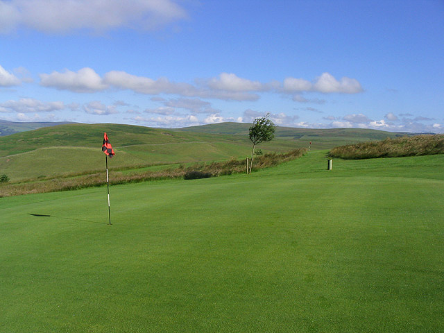 The 11th green at Galashiels Golf Course