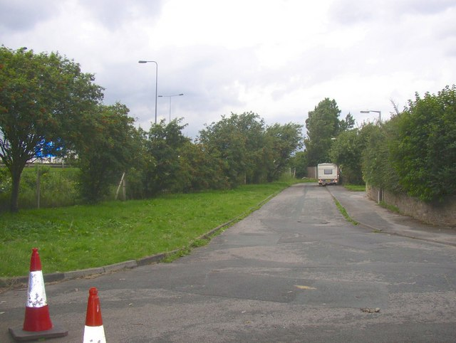 The end of Rockhill Lane, North Bierley