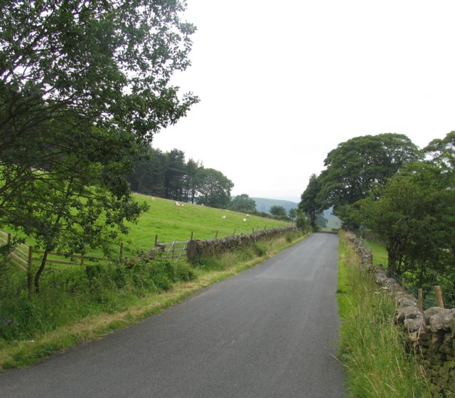 Pendle Road towards Downham
