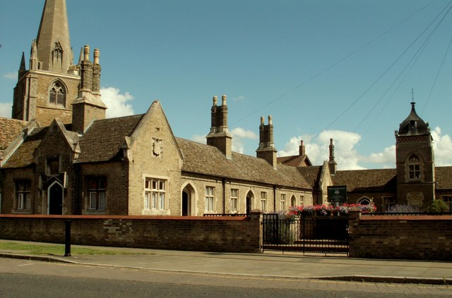Almshouses by St. Mary's church
