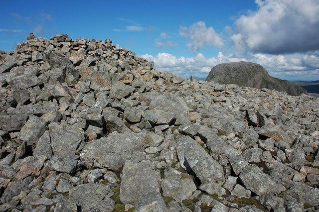 Summit cairn on Kirk Fell