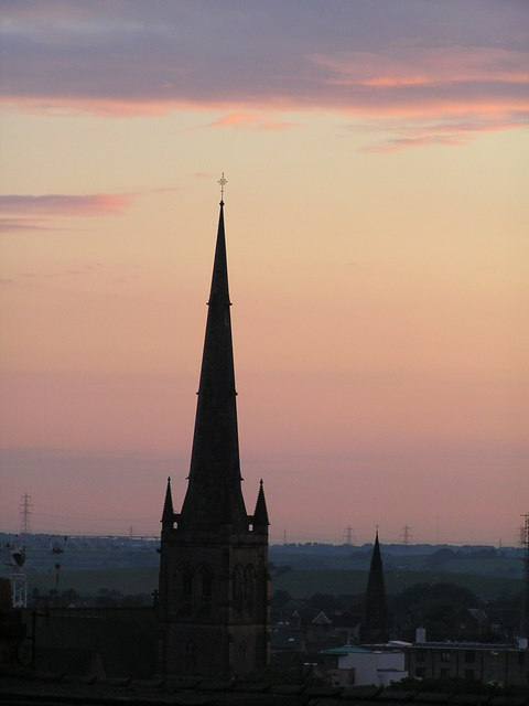 Lancaster Cathedral at Sunset.