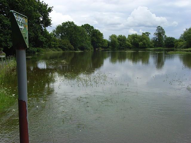 Loddon floodwaters