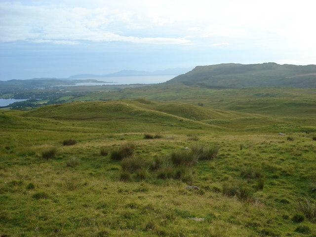 Looking towards Beinn Lora from the hillside northeast of Achnaba