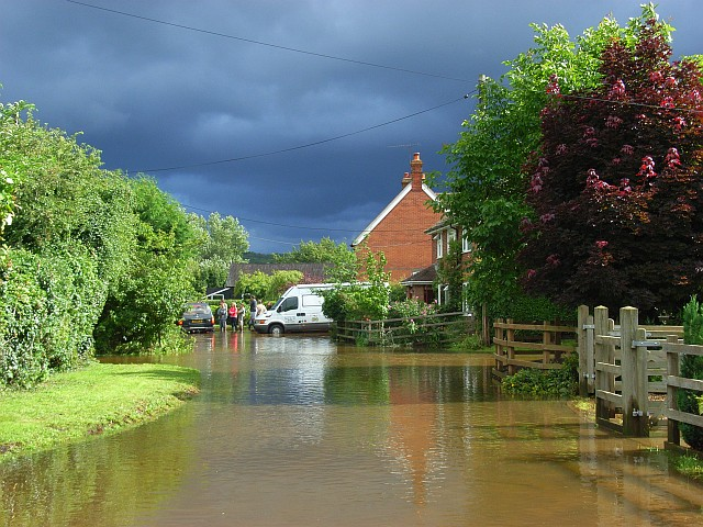 Flooding in Bucklebury
