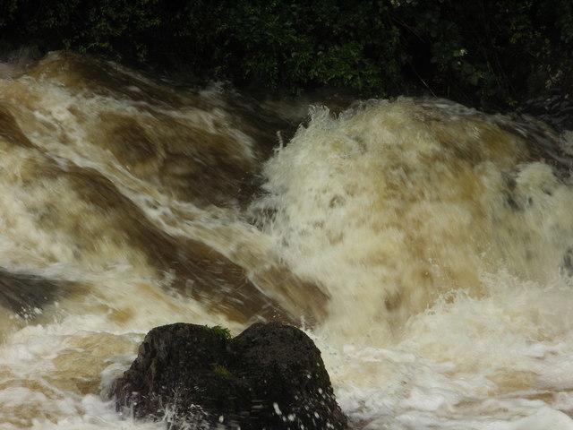 The Rhiw in Flood
