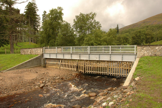 Bridge over river in Glen Mazeran